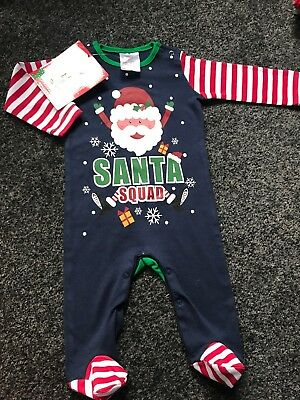 Snowman Baby Grow//Sleep Suit Great For Christmas 3//6 /& 9//12 months Really Cute