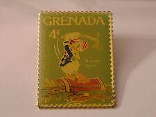 Disney Grenada DONALD DUCK Golfing Postal Stamp PIN 4¢ Golf Swing Clubs Bag 1979