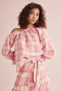 Country Road Check Asymmetric Top - Candy Pink