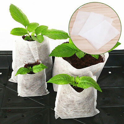 100pcs Nursery Pots Plante Semis Raising Sacs Nursery Sacs fournitures de jardinage NEUF