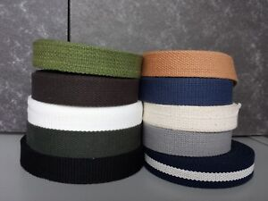 Canvas Natural 100/% Cotton Webbing Belt Fabric Strap Bag Making 19MM 3//4 INCH
