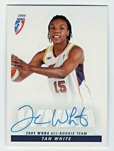 2006 WNBA Autograph #6 Tan White Indiana Fever 2005 All Rookie Team