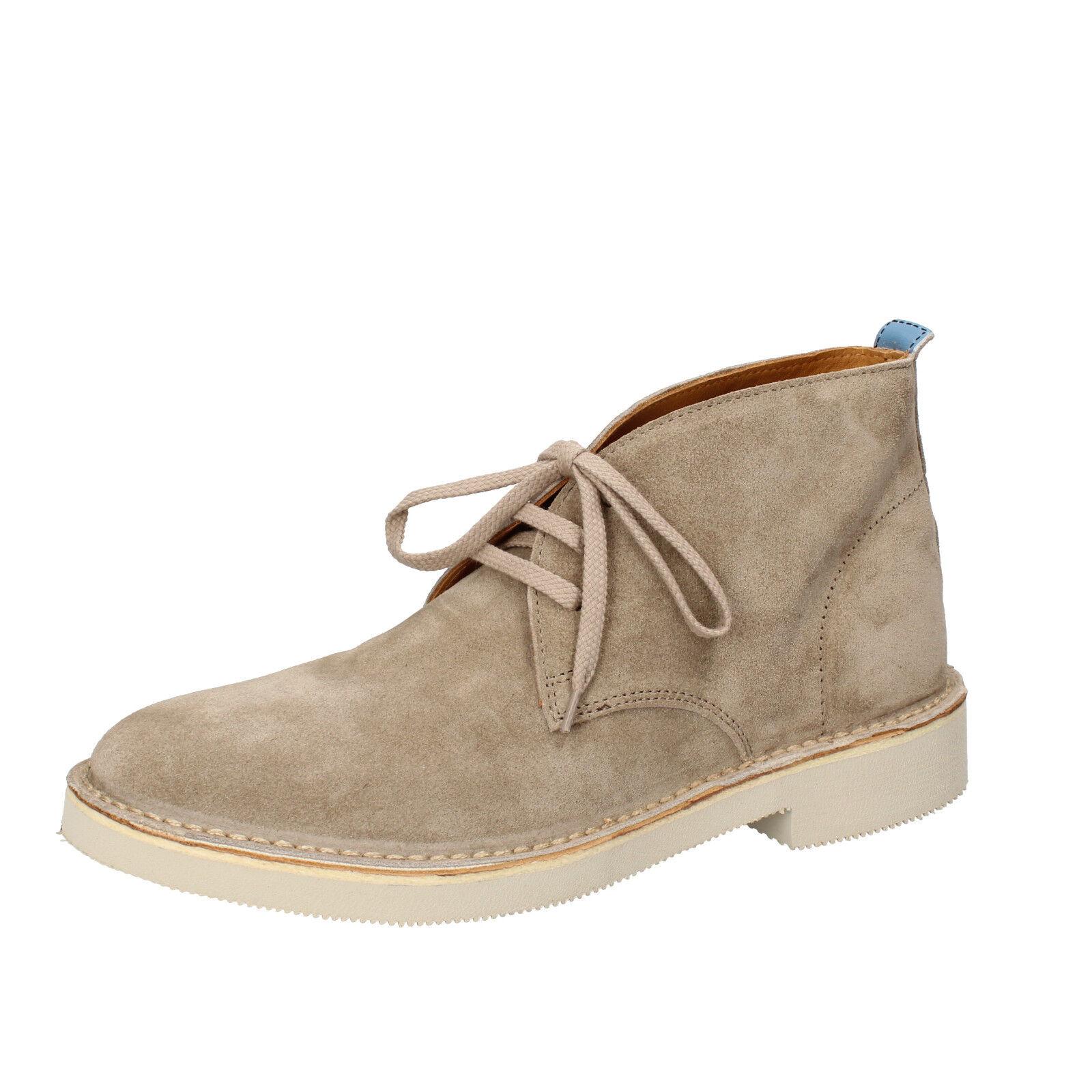 Mens shoes MOMA 7 (EU 41) desert boots beige suede AB326-D
