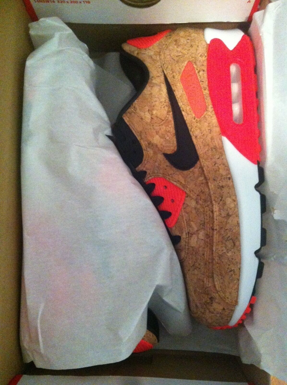 DS Nike Air Max 90 Anniversary Cork 90 Size 8 Bronze infrared 90 725235-706