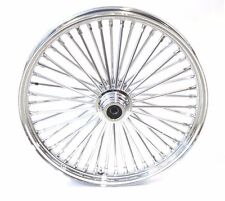 New 21 x 3.5 48 Fat King Spoke Front Wheel Chrome Rim Single Disc Touring Harley