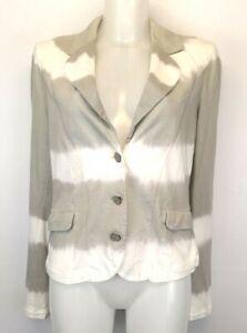 H38) Marken SANDWICH Leichte Damen Jacke Blazer Gr.40 L Neu Grau