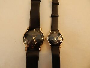 2484f4295 Matched Set of REGENT classic black face Dress WATCHES for MAN & a ...