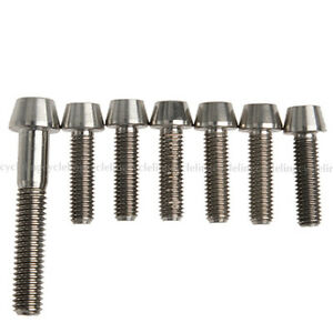 RockBros Titanium Ti Bolt Screw Stem Upgrade Kit M6x35mm M5x18mm Taper Head