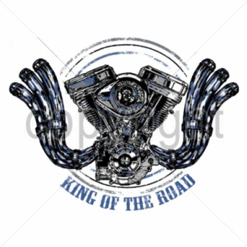 T Shirt Batik black Vintage HD Biker Chopper/&OldSchoolmotiv Modell King Of The