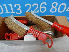 1 X Curvo Thatcher Filo spazzola W maniglia in plastica-fai da te/Ruggine/vernice/Barbecue/