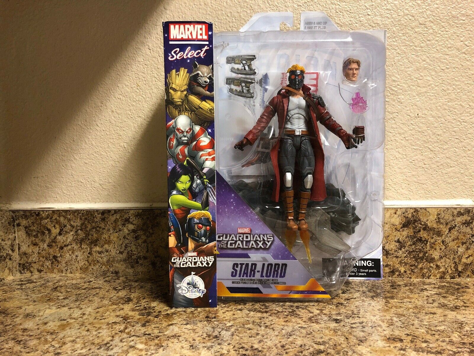 Marvel Select estrella Lord Guardians of the Galaxy DST Diamond MIP NIP