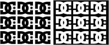 DC Shoe Stickers bundle (18) Skateboard helmet vinyl decal Black & White