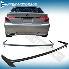 FOR 02-05 BMW E65 7-SERIES 745I 760I 745LI ACS-Style Rear Trunk Spoiler PU