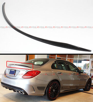 FOR 2015-19 MERCEDES BENZ W205 C63 AMG S B STYLE CARBON FIBER TRUNK SPOILER WING