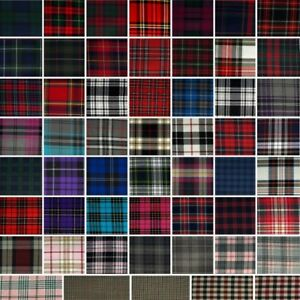 Fashion-Tartan-Plaid-Check-Polyviscose-Fabric-150cm-Wide-Royal-Stewart-etc