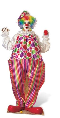 Clown Cardboard Cutout Fun Figure 182cm Tall Great for Occasions /& Parties