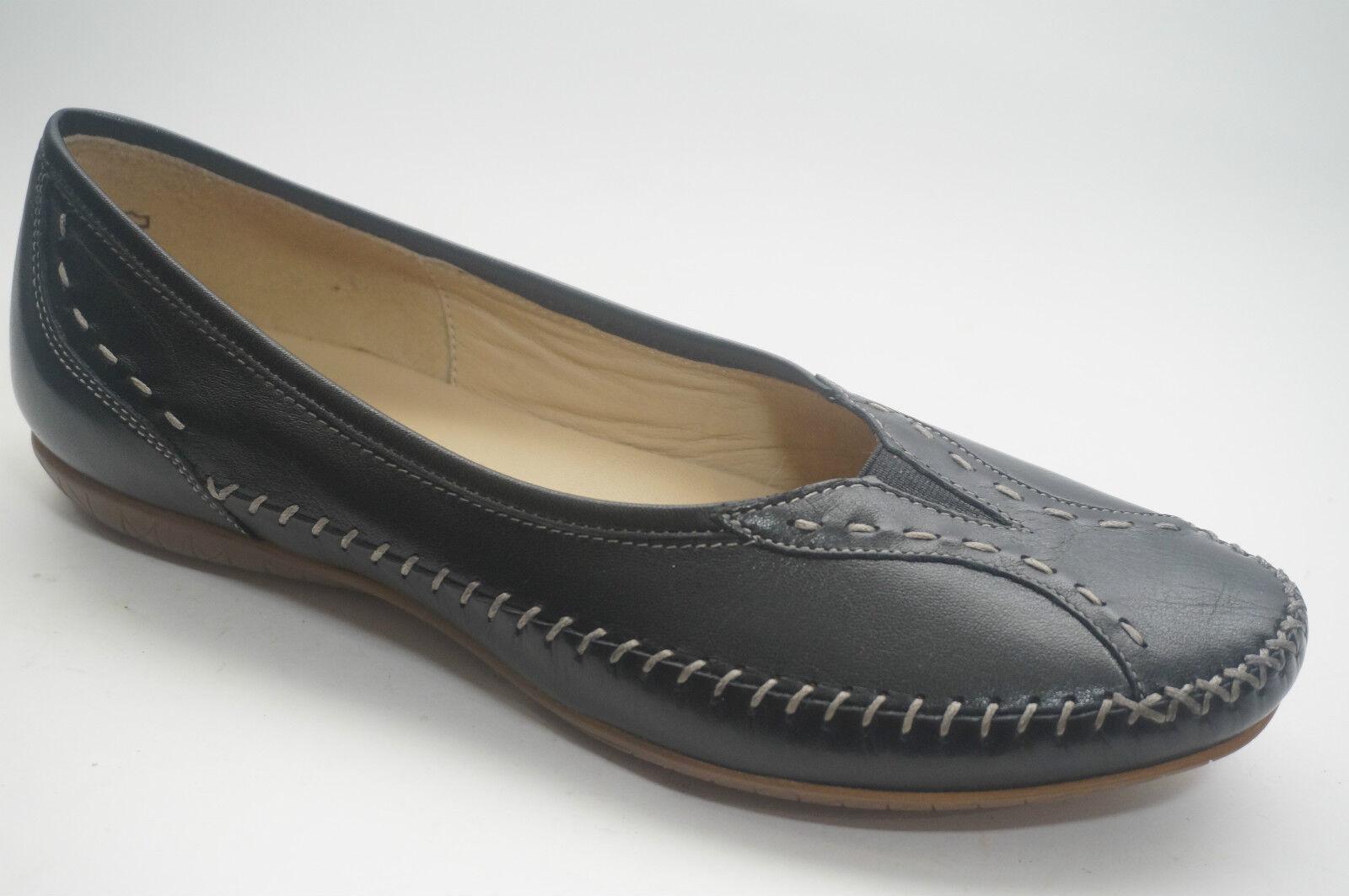 1758  Sioux zapatos zapatos zapatos deportiva bailarina mocasines talla 41 UK 7,5 negro cuero liso  venderse como panqueques