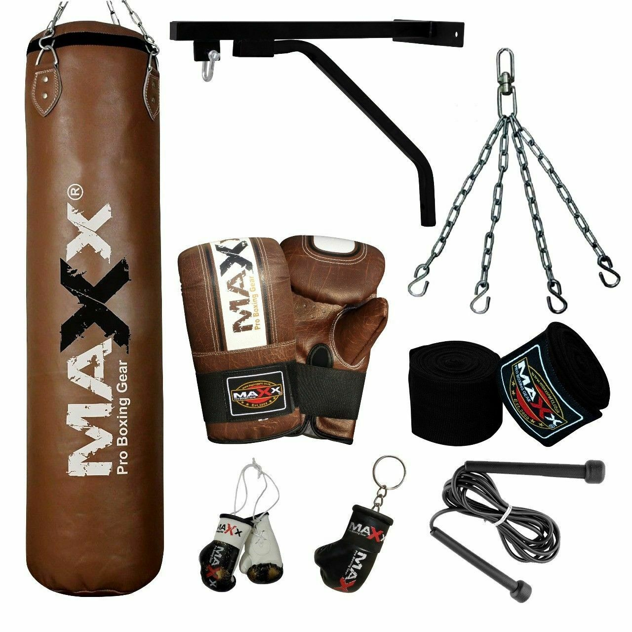 15PC NEW  Boxing Set Filled Heavy Punchbag Martial Art Punch Bag Mma Quality