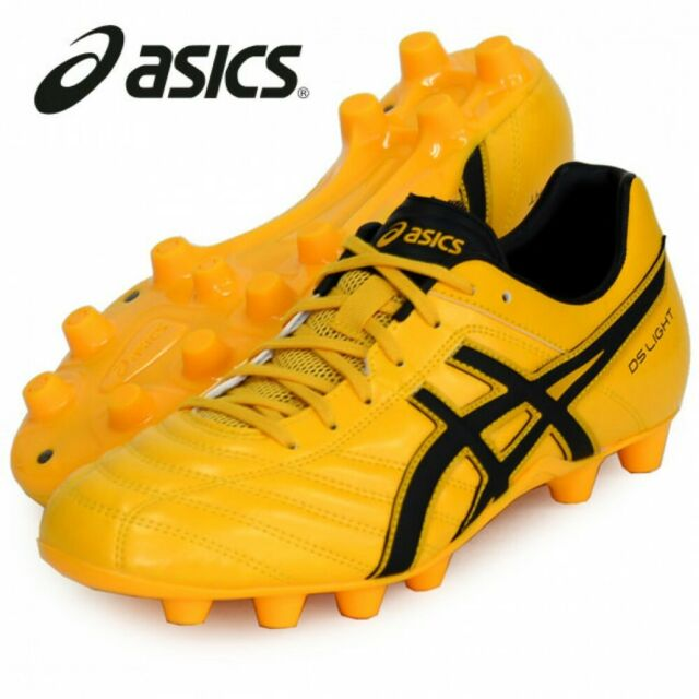 ASICS Soccer Rugby Spike Shoes DS Light WB 2 TSI754 Yellow Black Us8.526.5cm