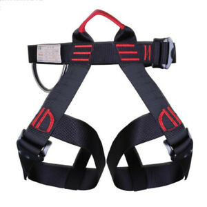 Outdoor Heavy Duty Tree Climbing Rappelling Belt Rigging Rock Harness Safety Hot