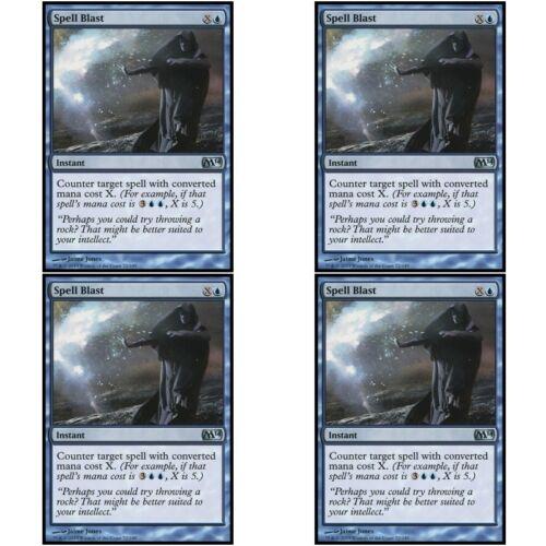 4 x SPELL BLAST NM mtg M14 Blue Instant Unc