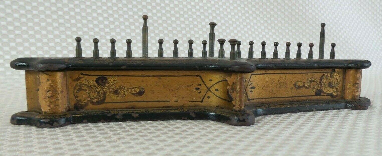 RARE ANTIQUE 1863 JOHN GILLS WHIST COUNTER - oro  PAINTED CAST IRON  vendita con alto sconto
