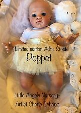 Reborn Baby Custom Doll Poppet by Adrie Stoete limited edition by artist Cherie