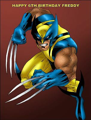 Surprising A4 Super Hero Wolverine Edible Icing Party Birthday Cake Topper Personalised Birthday Cards Veneteletsinfo