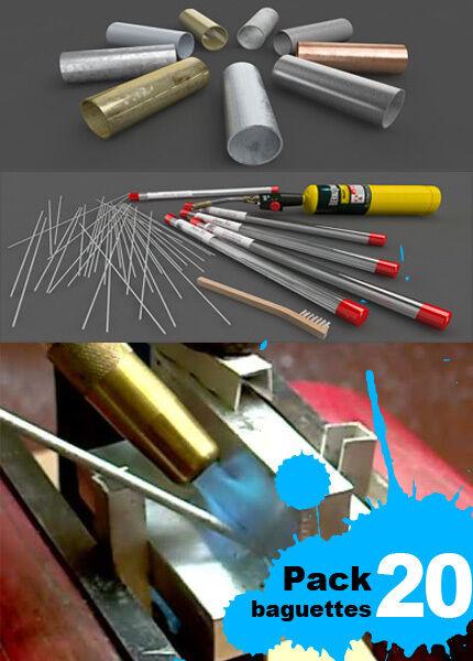DURAFIX-EASYWELD 20 varillas para soldar aluminio + cepillo de acero inox GRATIS
