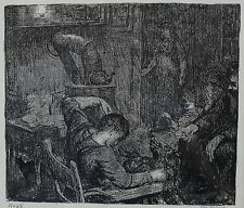 George Bellows (American 1882-1925) Lithograph, Workman's Kitchen 1917. Signed