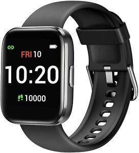Smart Watch kompatibel mit iOS Android, Fitness Tracker mit Blut Sauerstoff (schwarz)