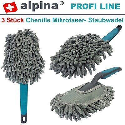 3x Chenille Microfaser Felgenbürste Felgenreiniger Bürste Auto Waschbürste