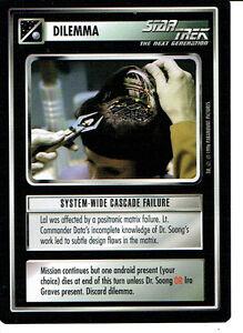 STAR TREK CCG Q CONTINUUM RARE CARD BLADE OF TKON