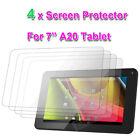 """4x Protector de Pantalla Para 7"""" pulgadas A20 Dual Core Google Tableta Android"""