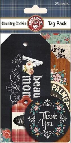 Tags Die Cuts x25 Ruby Rock-It Country Cooking