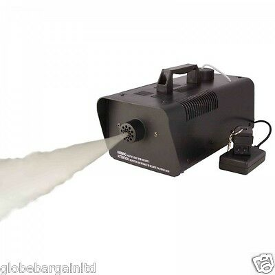 WIRELESS SMOKE / FOG MACHINE 900W DJ DISCO XMAS LIGHT CLUB FOGGER PUB HOME WATT
