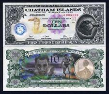 Chatham Islands, $10, 2001, Polymer / Tyvek, UNC