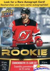 2019-20-UD-Hockey-Factory-Sealed-ROOKIE-Box-Set-25-ROOKIES-Look-for-AUTO