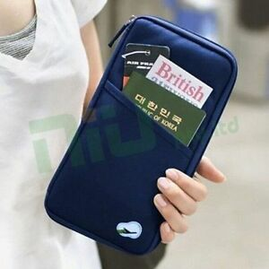 OZ-Travel-Wallet-Passport-Holder-Document-Organiser-Bag-Ticket-Credit-Card-Case
