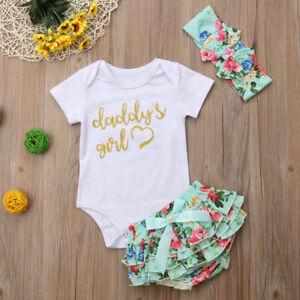 328809193 Newborn Baby Girls Romper Tops Jumpsuit Tutu Pants Headband Outfits ...