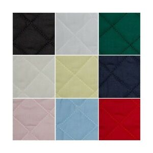 Quilted-Polycotton-Fabric-Nylon-Backed-Quilting-Padded-Diamond