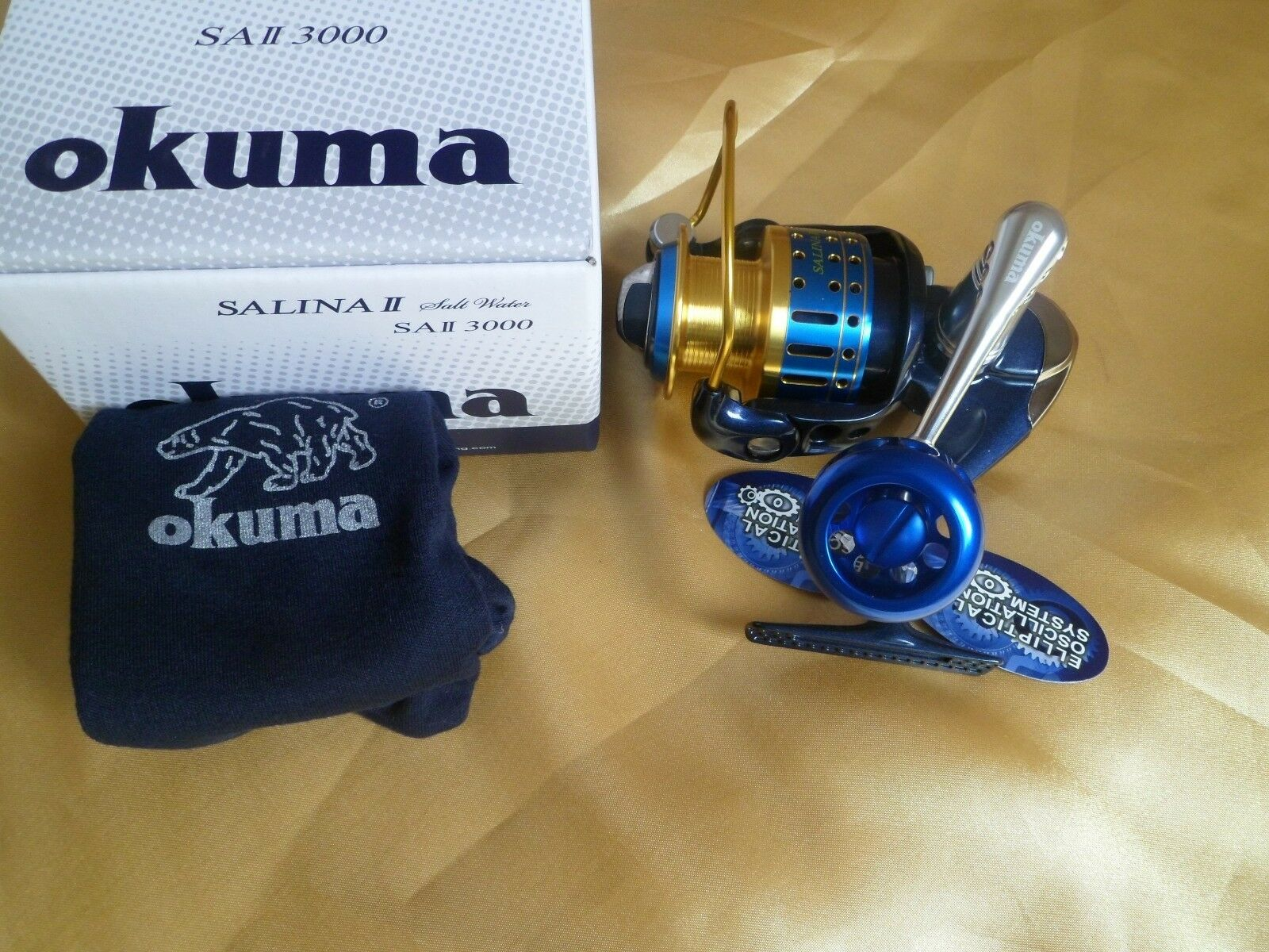Okuma SALINA II 3000 Saltwater Fishing  Spinning Reel  23kg drag  best prices and freshest styles