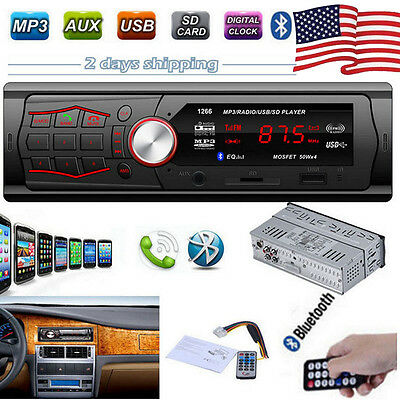 Car Bluetooth In-Dash FM Radio Stereo Audio Receiver MP3 Player USB SD Aux Input