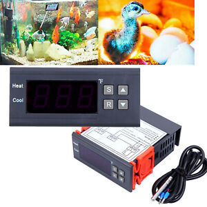 Details about DC 12V Digital Temperature Controller Thermostat w/NTC for  Greenhouse Aquarium