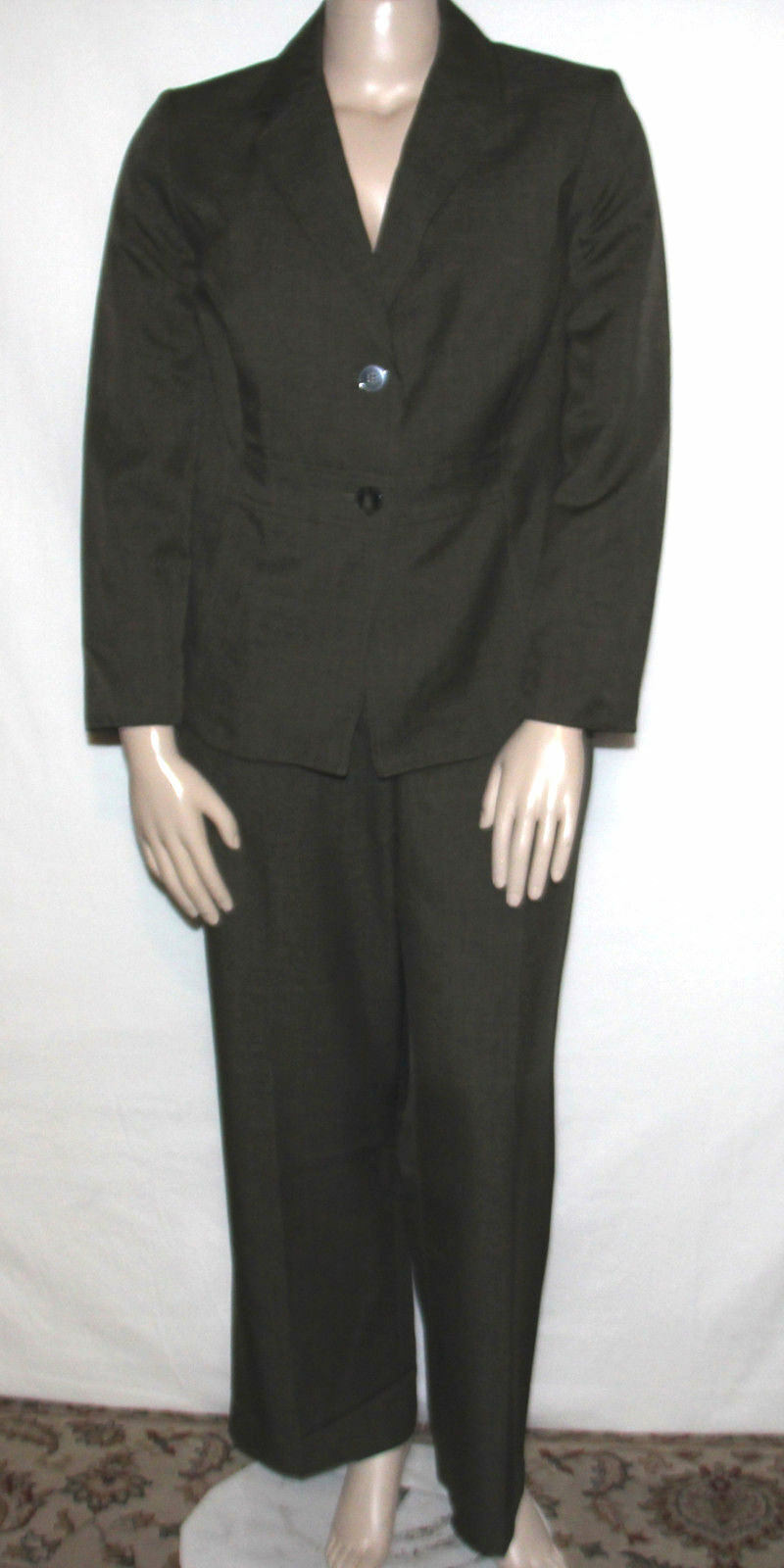 Nuevo Traje de Kasper  Plus 14 W cosidas Collar con muescas 2 Botón Chaqueta y Pantalones Loden  primera reputación de los clientes primero