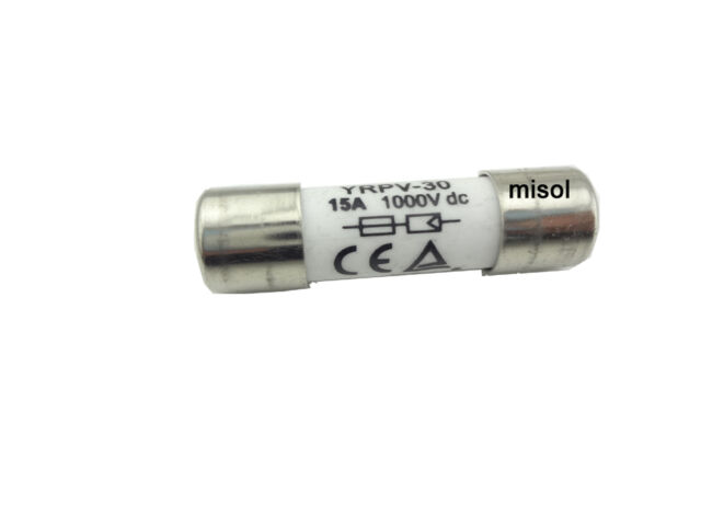 MISOL 1 unit of PV solar fuse 10A 1000VDC fusible 10x38 gPV