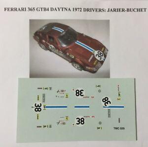 FERRARI-365-GTB4-DAYTONA-24h-LE-MANS-72-N-38-Jarier-Buchet-1-43-DECALS