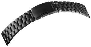 Edelstahl-Gliederband-Uhrenband-Schwarz-26-mm-Faltschliesse-X8100071260