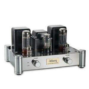 EL34 Vakuum Röhrenverstärker Class A Tube Power Amplifier Stereo Audio Amp 12W×2