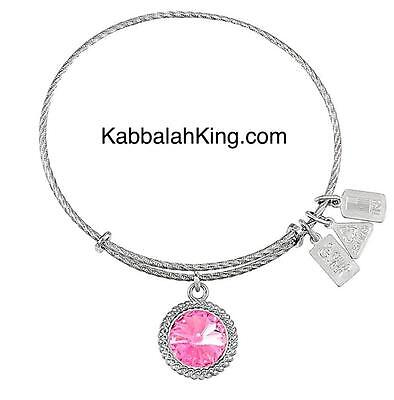 Wind & Fire Sterling Silver October Birthstone Charm Expandable Bangle Bracelet Jewelry & Watches
